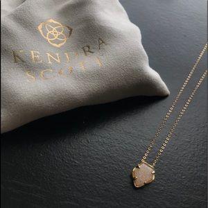 Kendra Scott bundle iridescent Drusy charm & chain